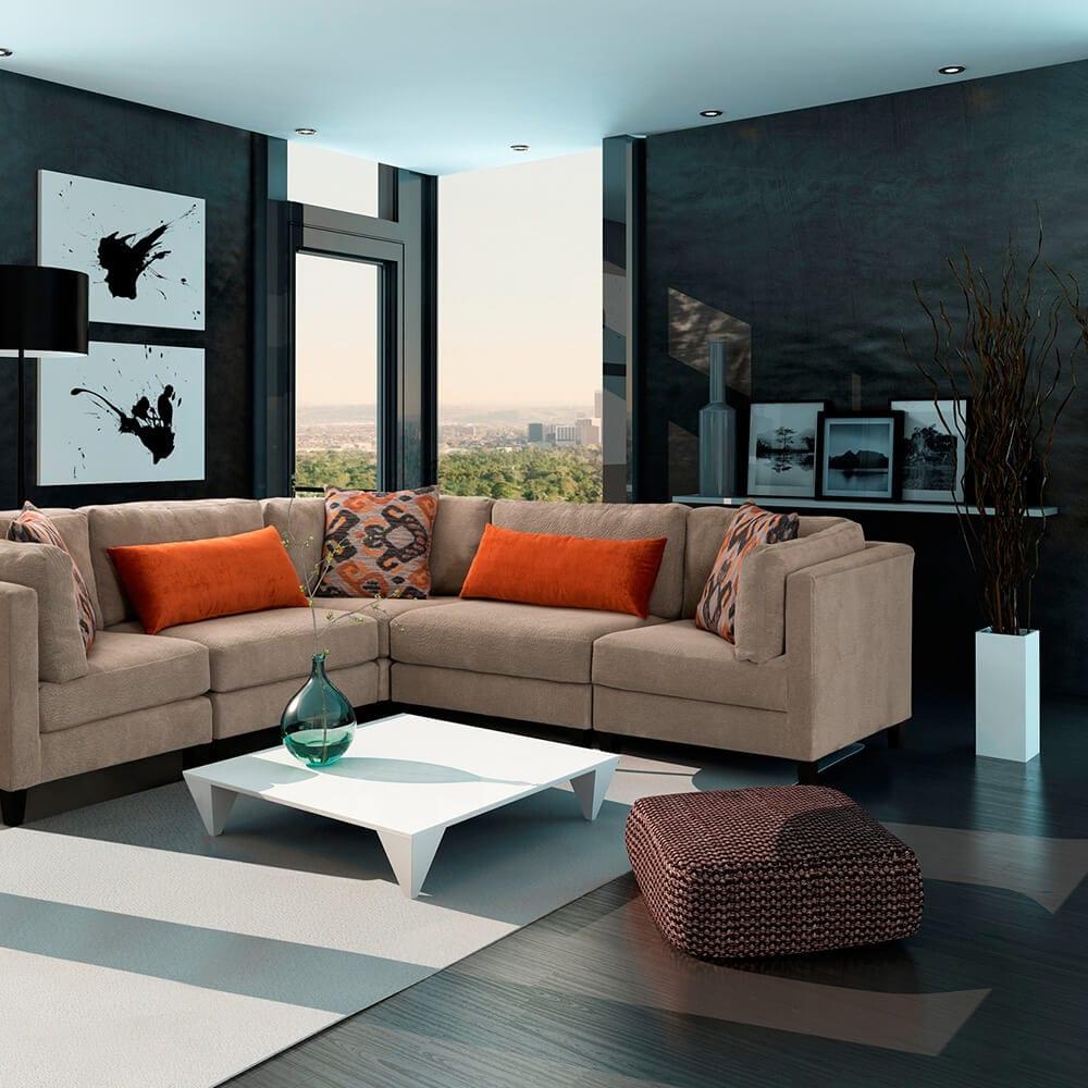 Portfólio Sala de Estar 2 - Sala de Projeto, plataforma Online de projetos de arquitetura e design de interior