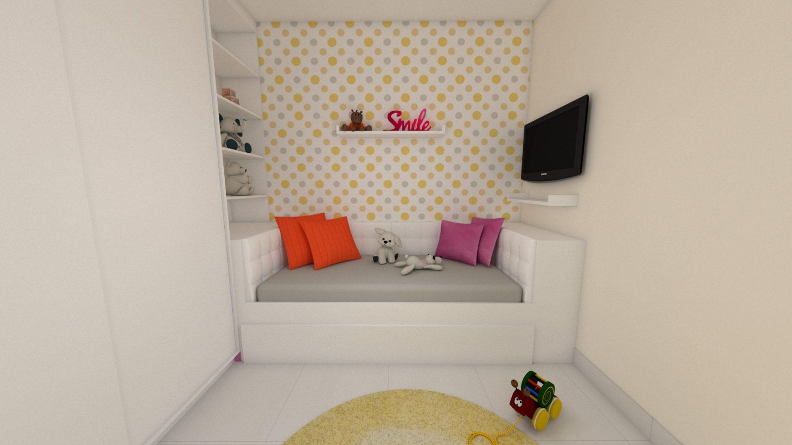 Projeto Online - quarto solteiro e home office